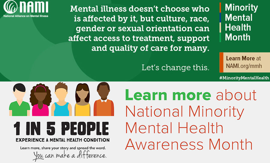 July Is National Minority Mental Health Awareness Month ...